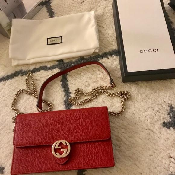 2a1f91bcd609 Gucci Bags | Red Envelop Cross Body Bag No Trades | Poshmark